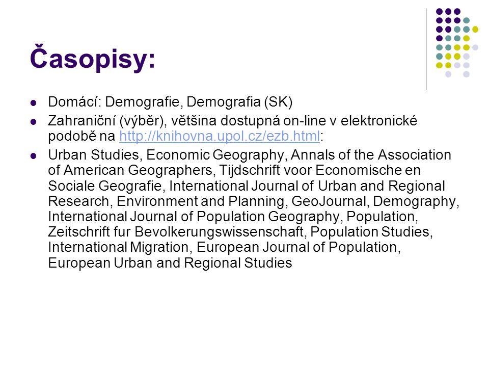 Časopisy: Domácí: Demografie, Demografia (SK)