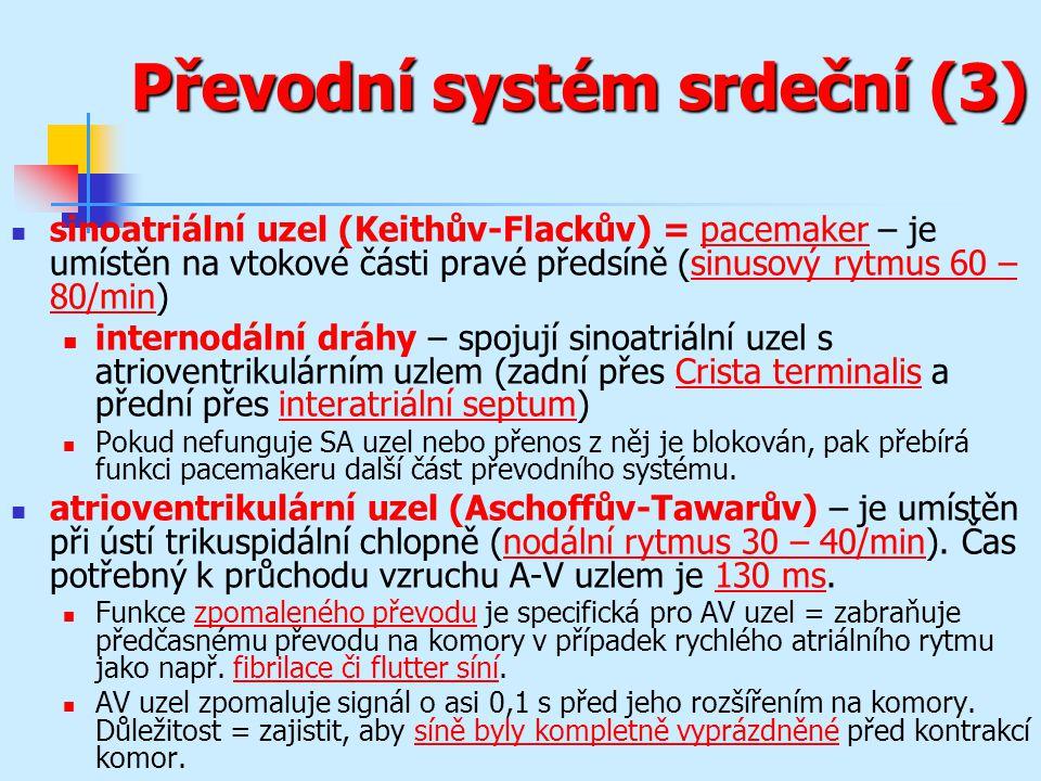 Převodní systém srdeční (3)