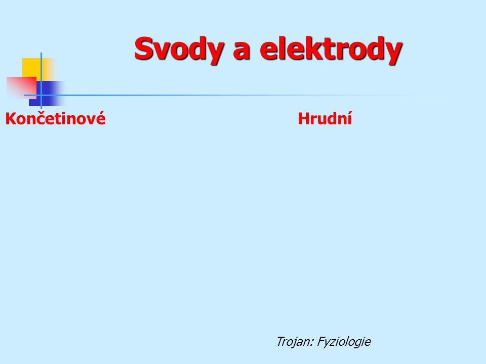 Svody a elektrody Končetinové Hrudní Trojan: Fyziologie