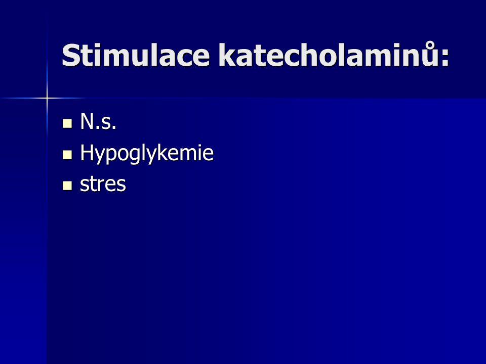 Stimulace katecholaminů: