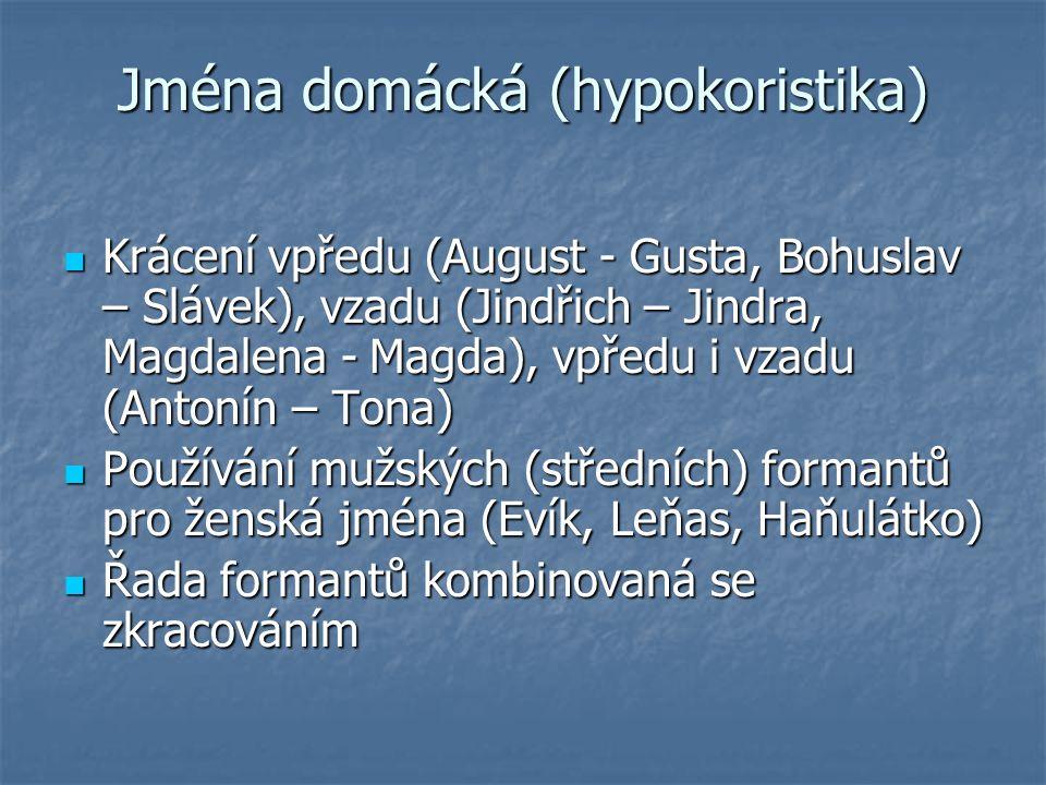 Jména domácká (hypokoristika)