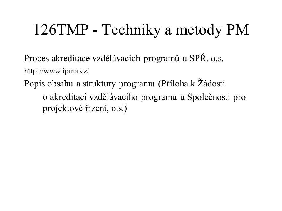 126TMP - Techniky a metody PM