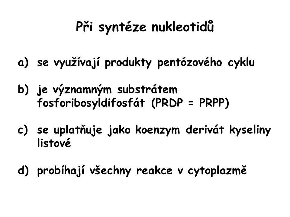 Při syntéze nukleotidů