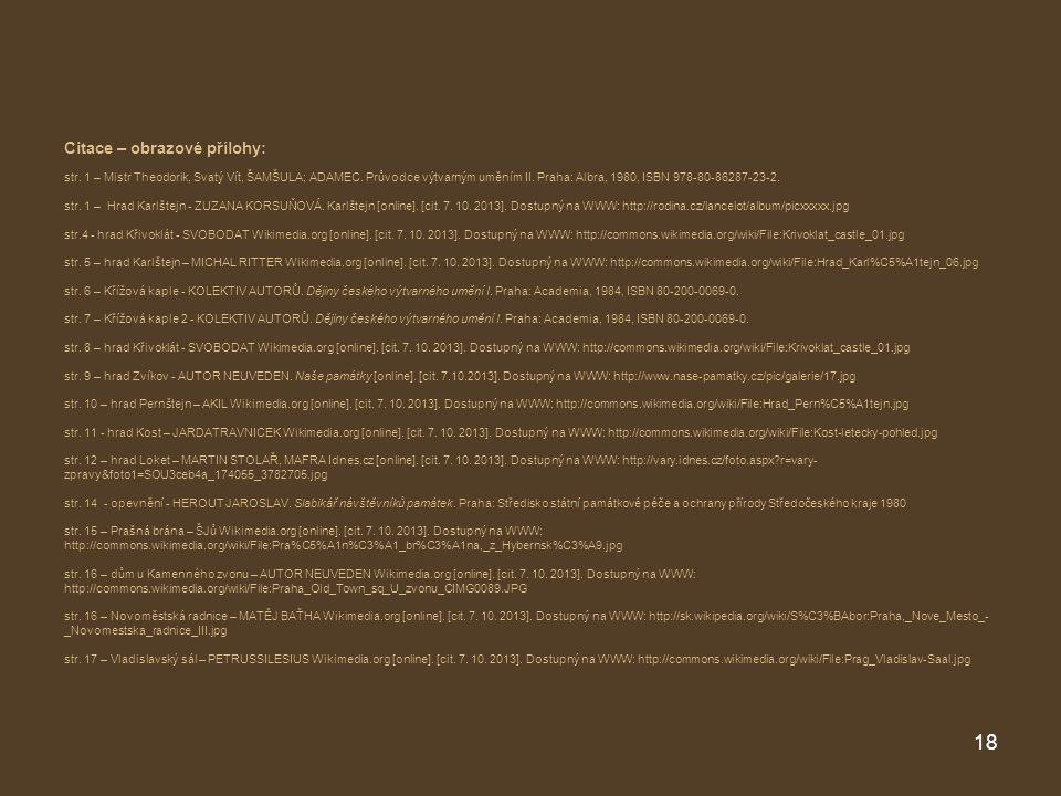 Citace – obrazové přílohy: str