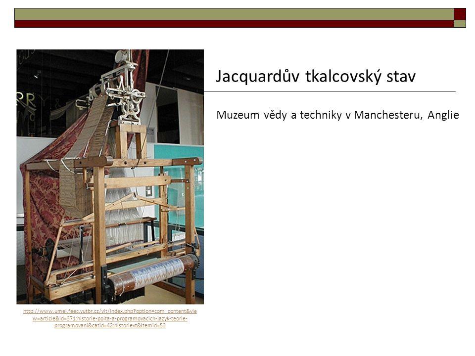 Jacquardův tkalcovský stav