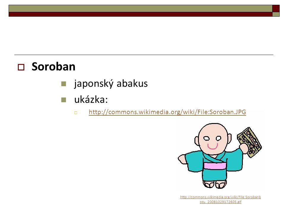 Soroban japonský abakus ukázka:
