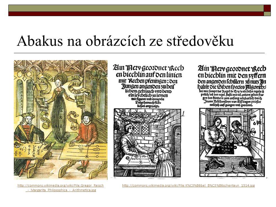 Abakus na obrázcích ze středověku