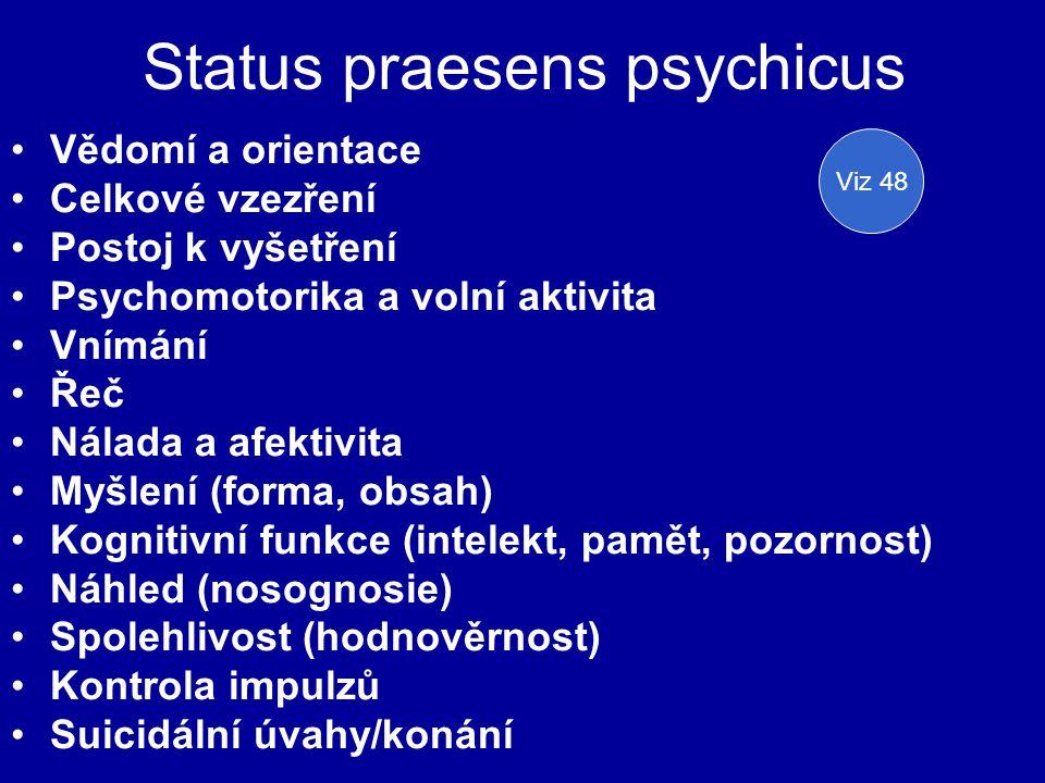 Status praesens psychicus