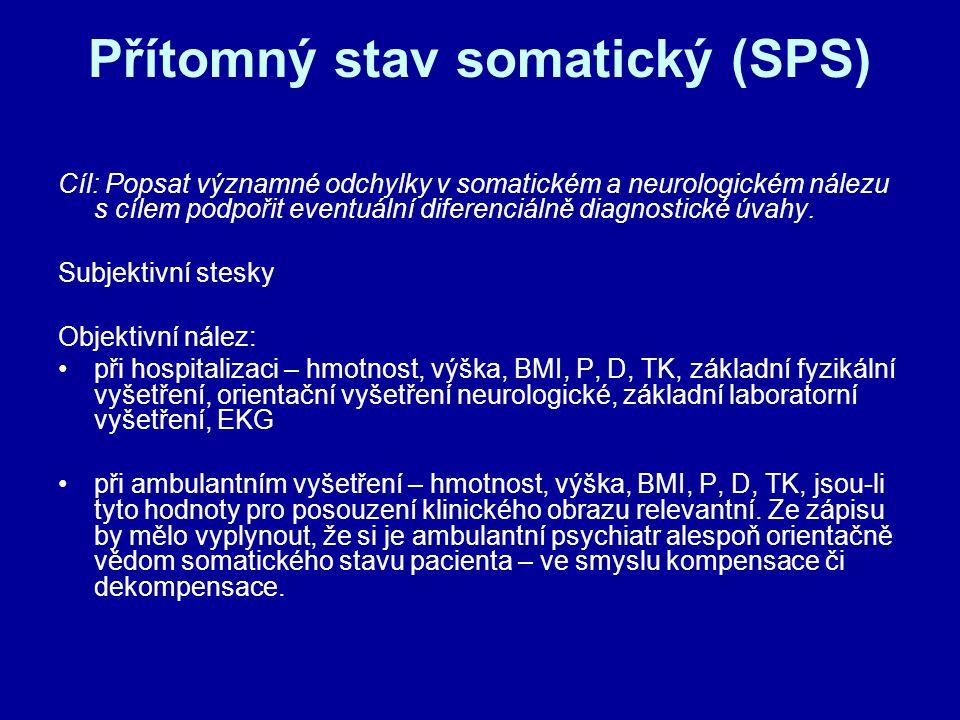 Přítomný stav somatický (SPS)