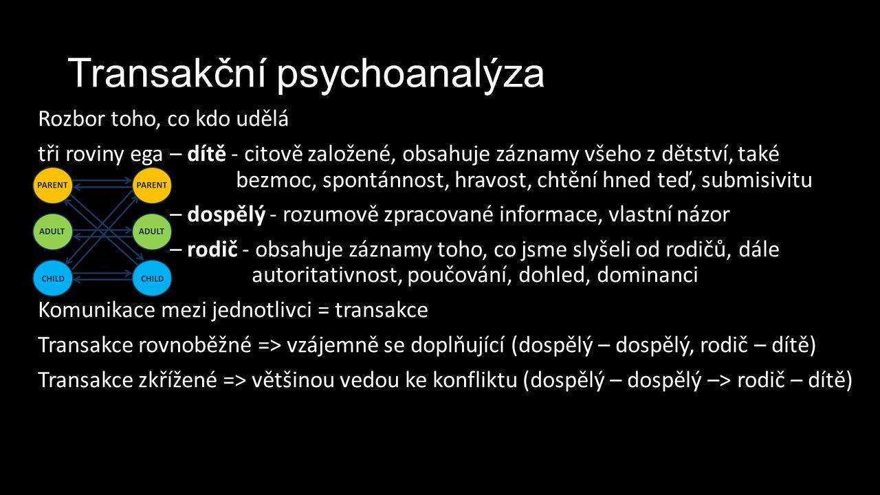 Transakční psychoanalýza