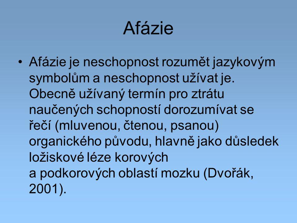 Afázie