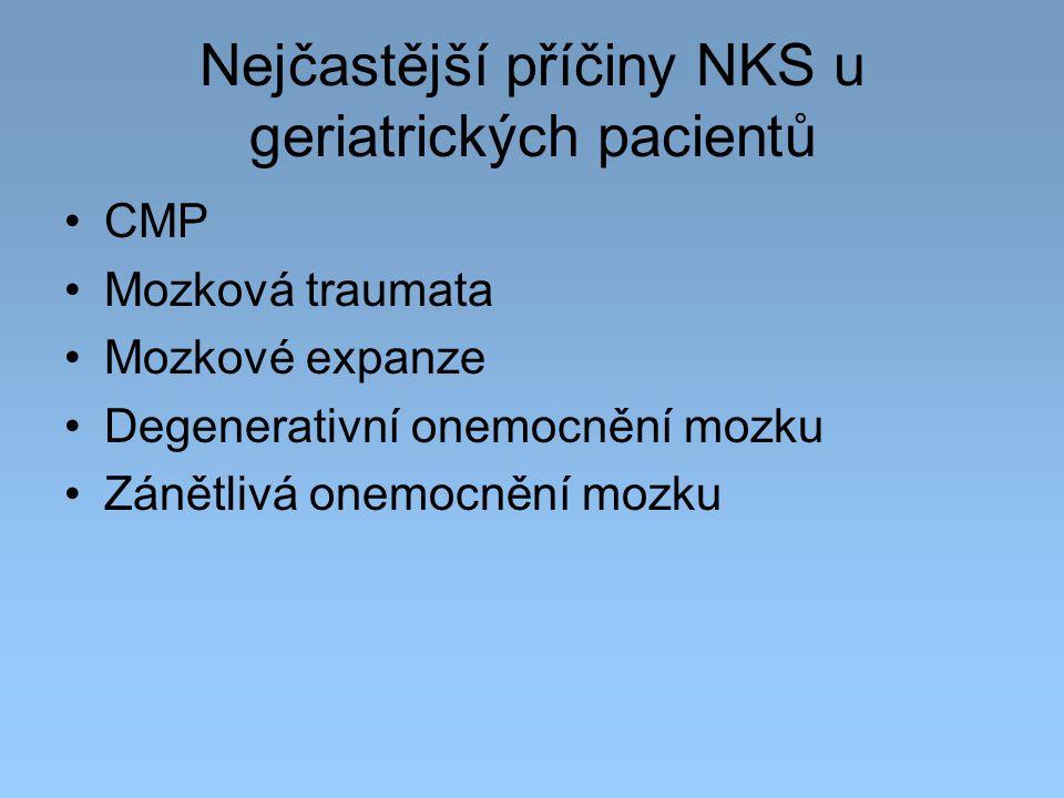 Nejčastější příčiny NKS u geriatrických pacientů