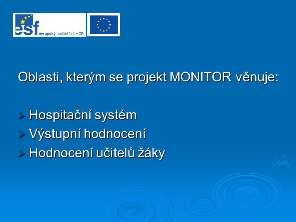 Oblasti, kterým se projekt MONITOR věnuje:
