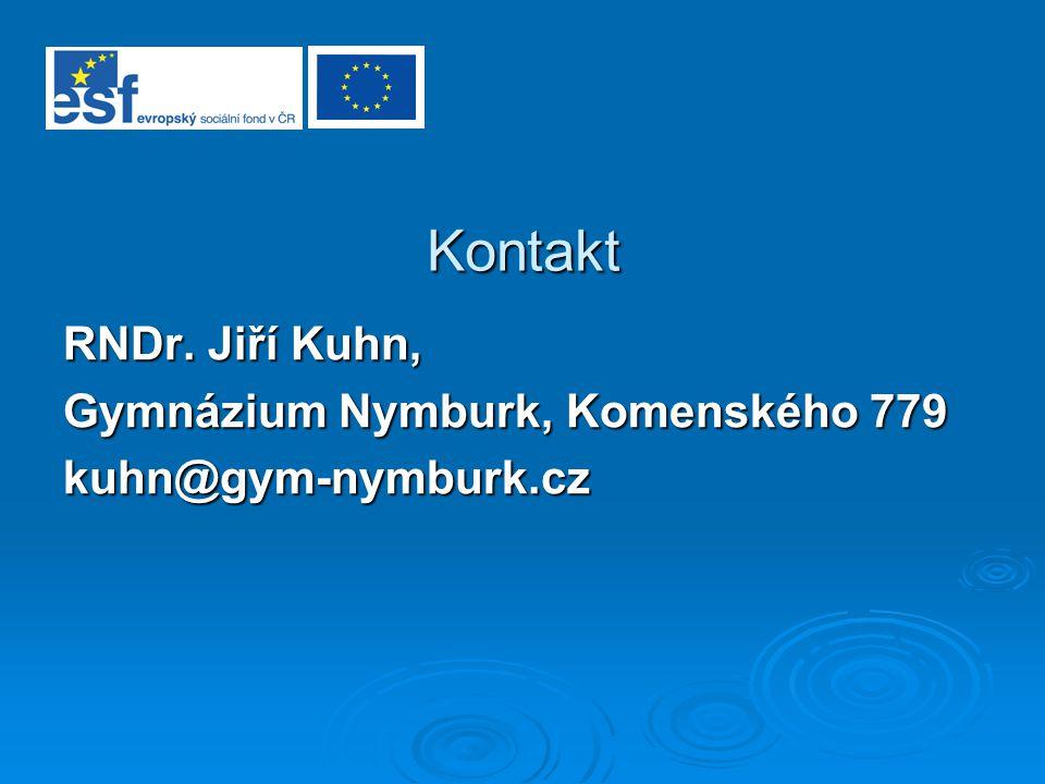Kontakt RNDr. Jiří Kuhn, Gymnázium Nymburk, Komenského 779