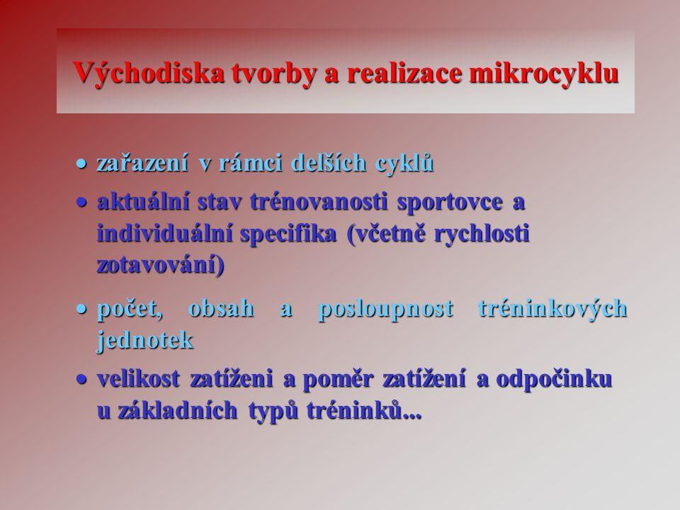 Východiska tvorby a realizace mikrocyklu