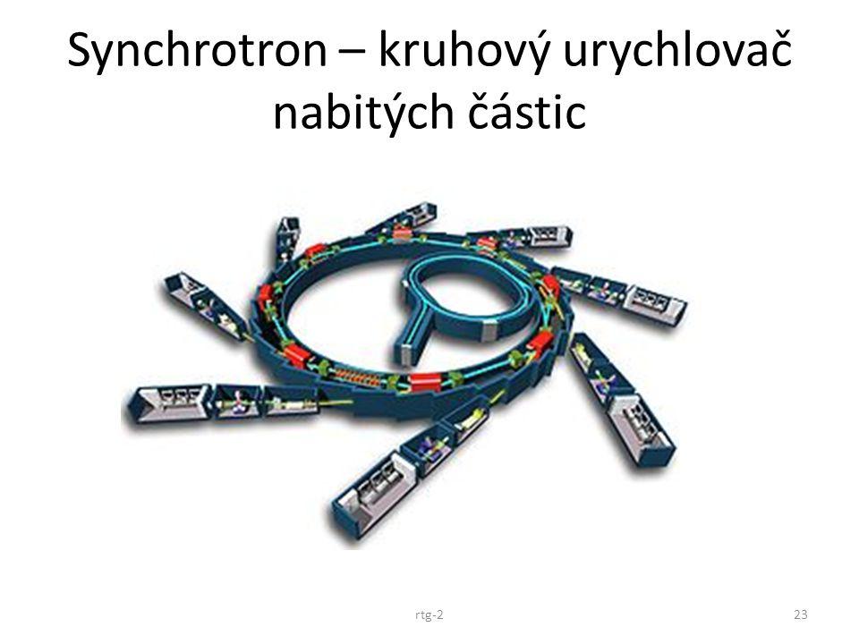 Synchrotron – kruhový urychlovač nabitých částic