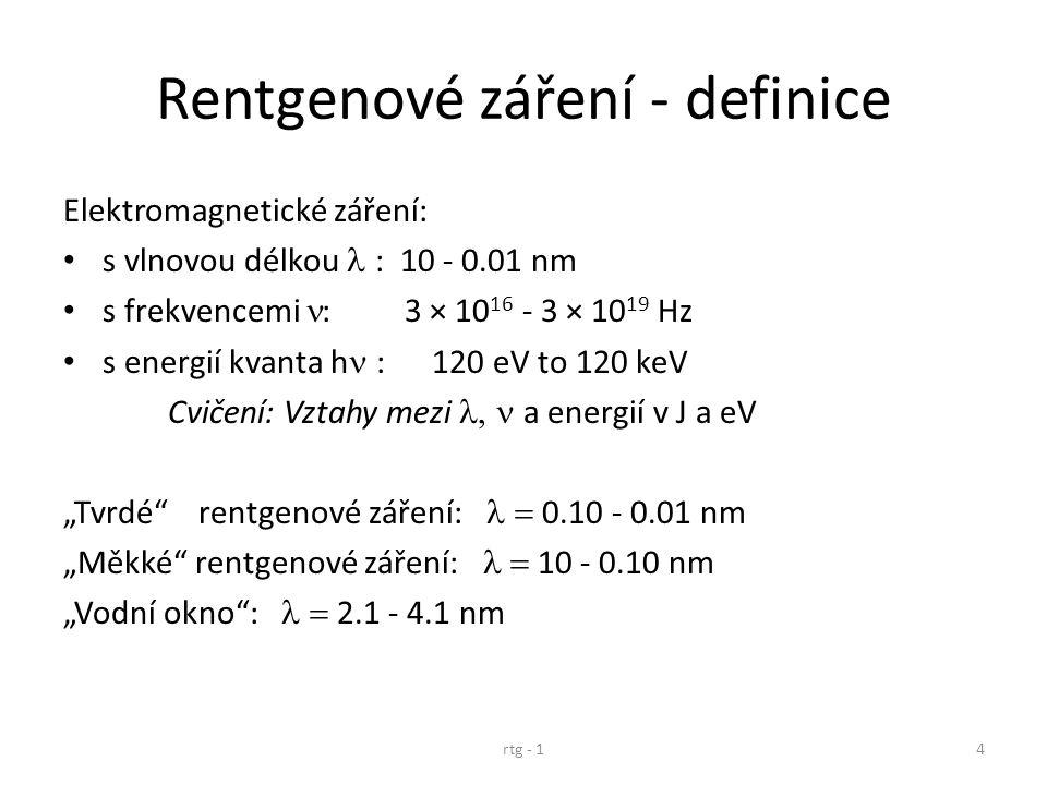 Rentgenové záření - definice