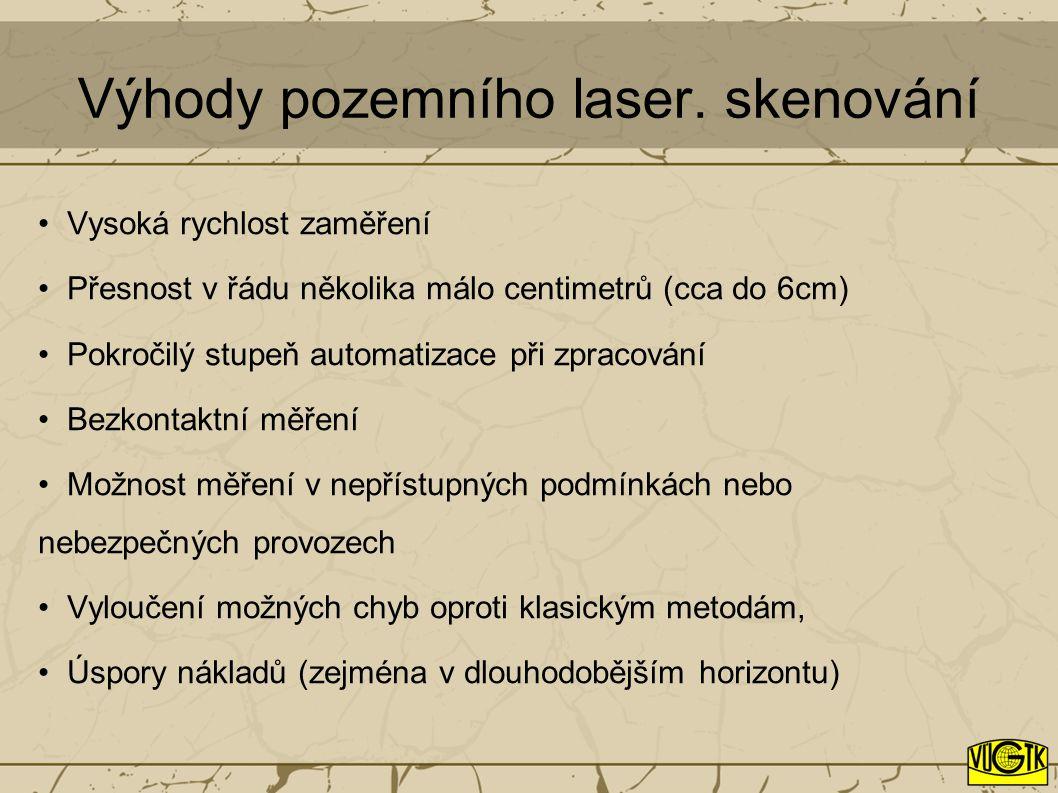 Výhody pozemního laser. skenování