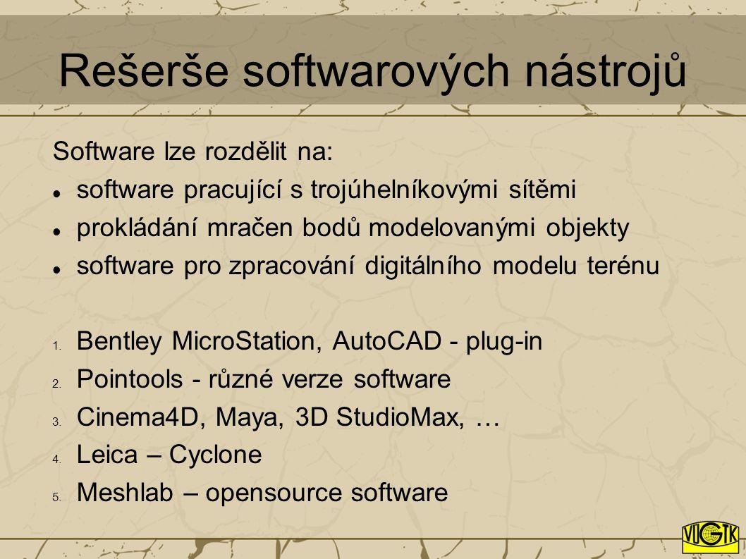 Rešerše softwarových nástrojů