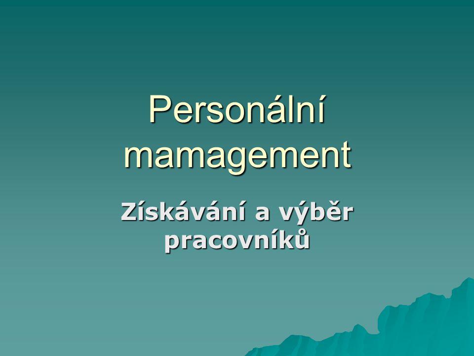 Personální mamagement