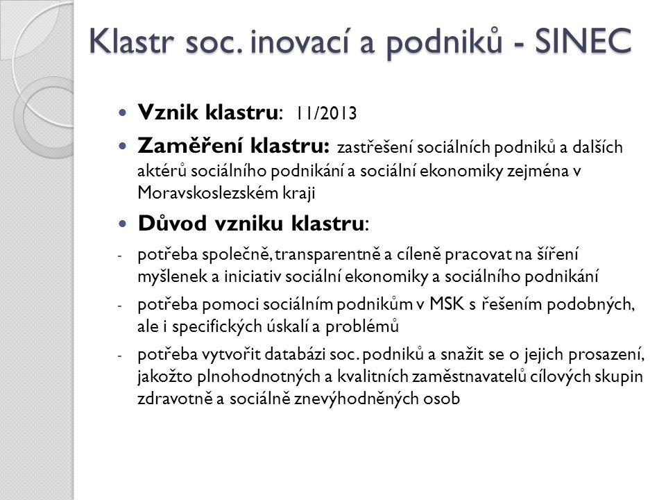Klastr soc. inovací a podniků - SINEC