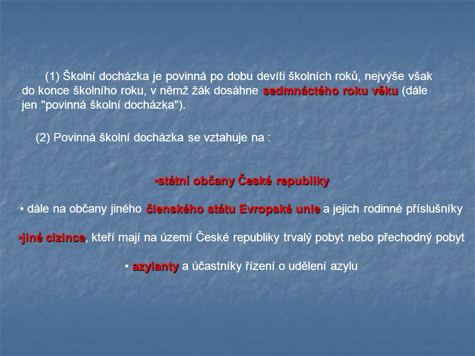 státní občany České republiky