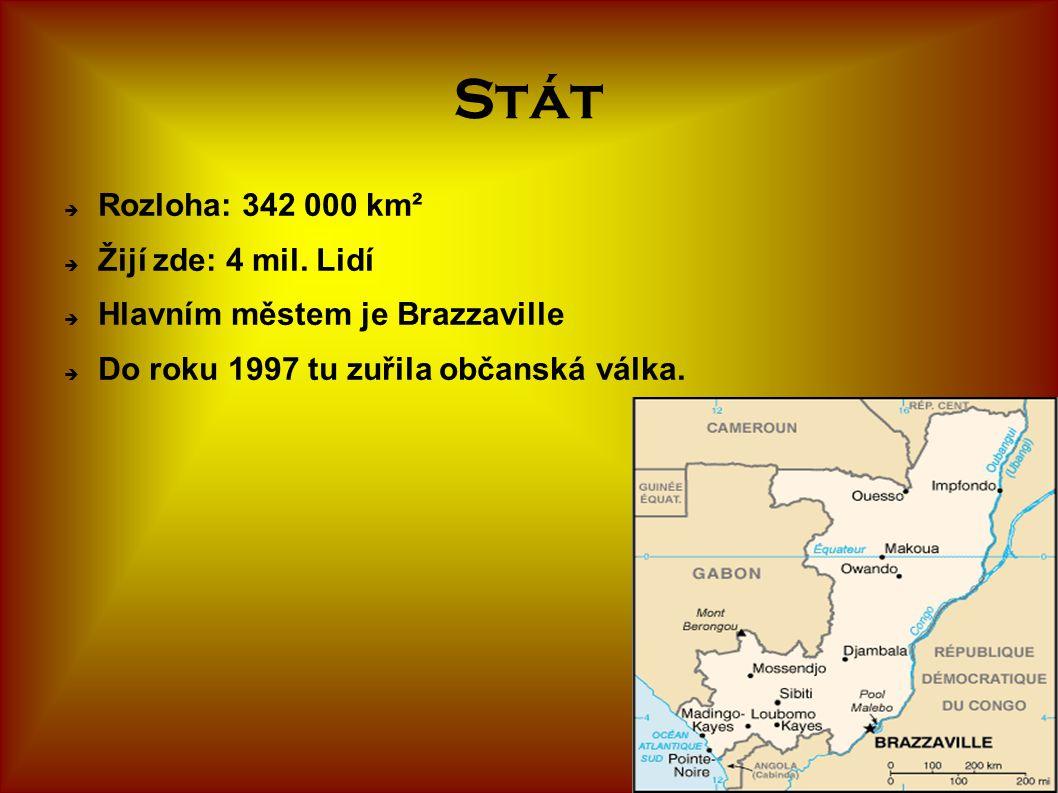 Stát Rozloha: 342 000 km² Žijí zde: 4 mil. Lidí