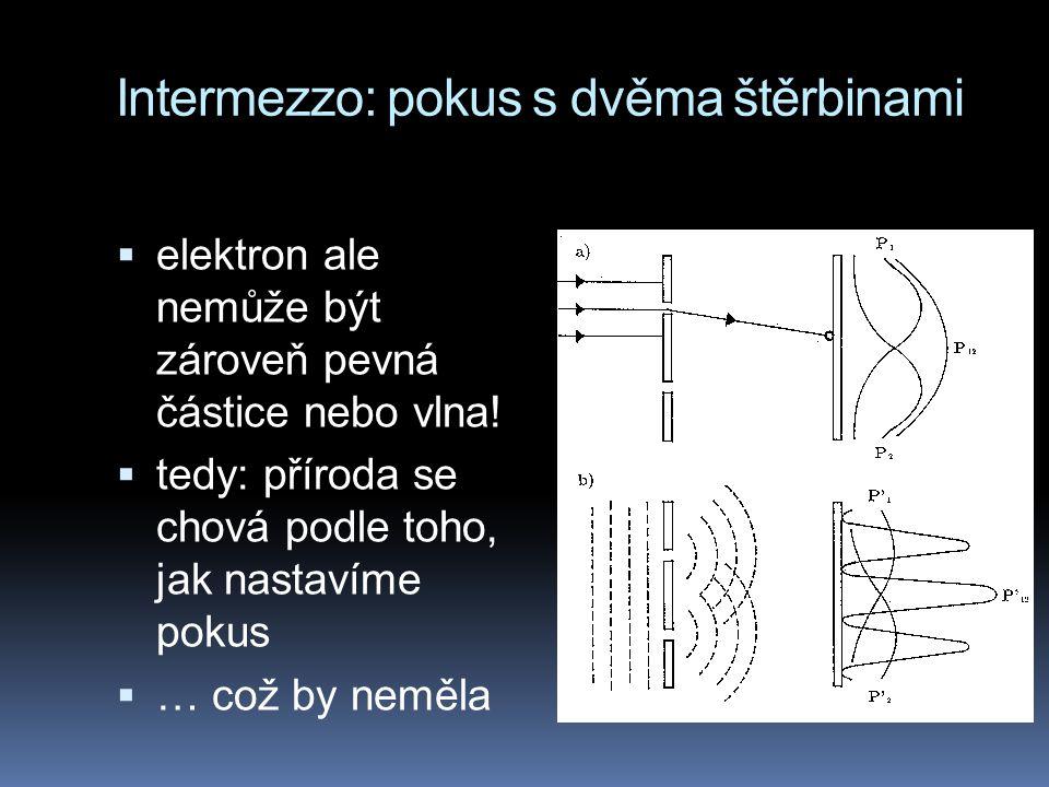 Intermezzo: pokus s dvěma štěrbinami