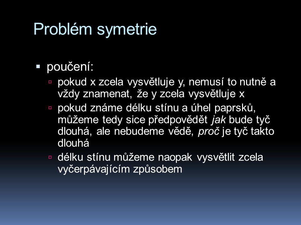 Problém symetrie poučení: