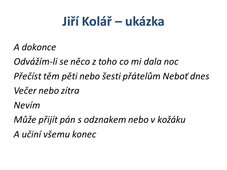 Jiří Kolář – ukázka