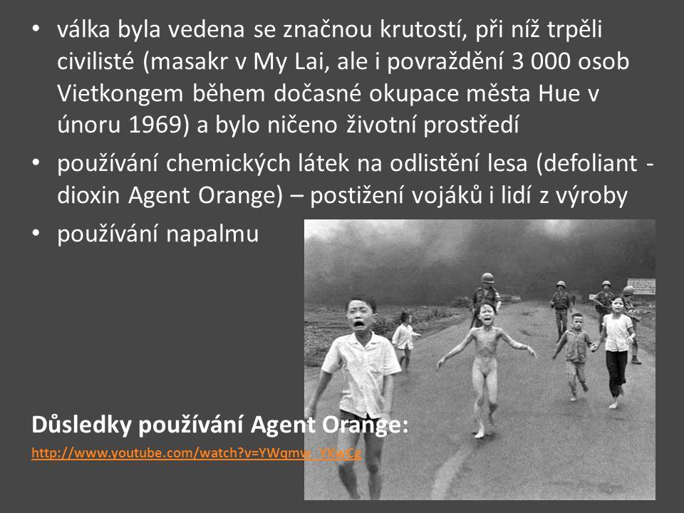 Důsledky používání Agent Orange: