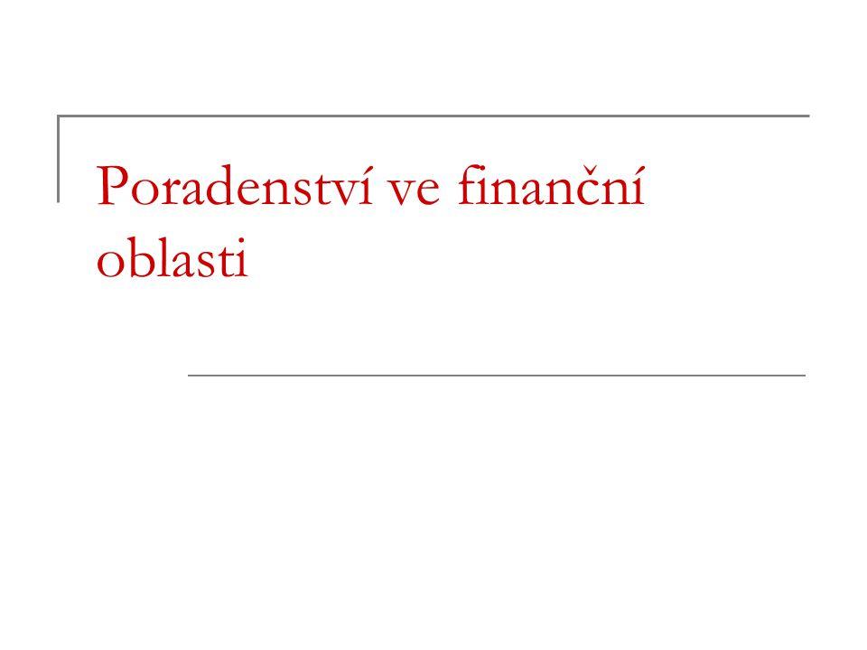 Poradenství ve finanční oblasti