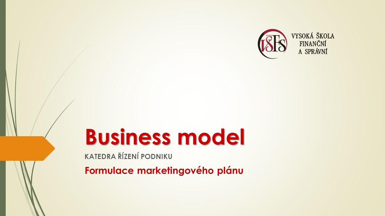 KATEDRA ŘÍZENÍ PODNIKU Formulace marketingového plánu