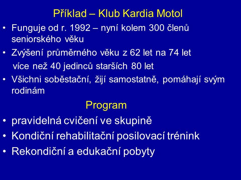 Příklad – Klub Kardia Motol