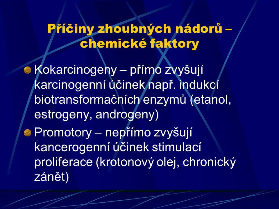 Příčiny zhoubných nádorů – chemické faktory