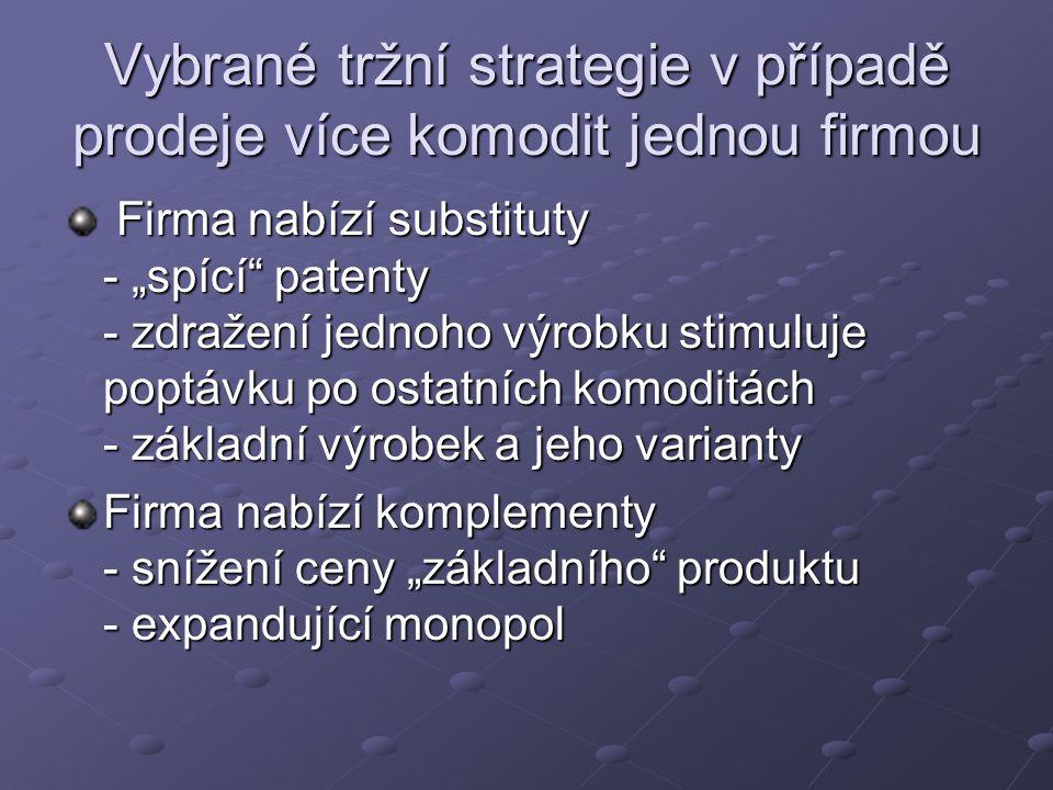 Vybrané tržní strategie v případě prodeje více komodit jednou firmou