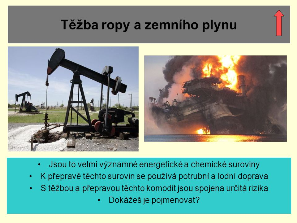 Těžba ropy a zemního plynu