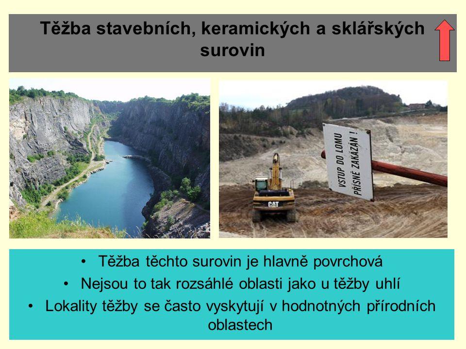 Těžba stavebních, keramických a sklářských surovin