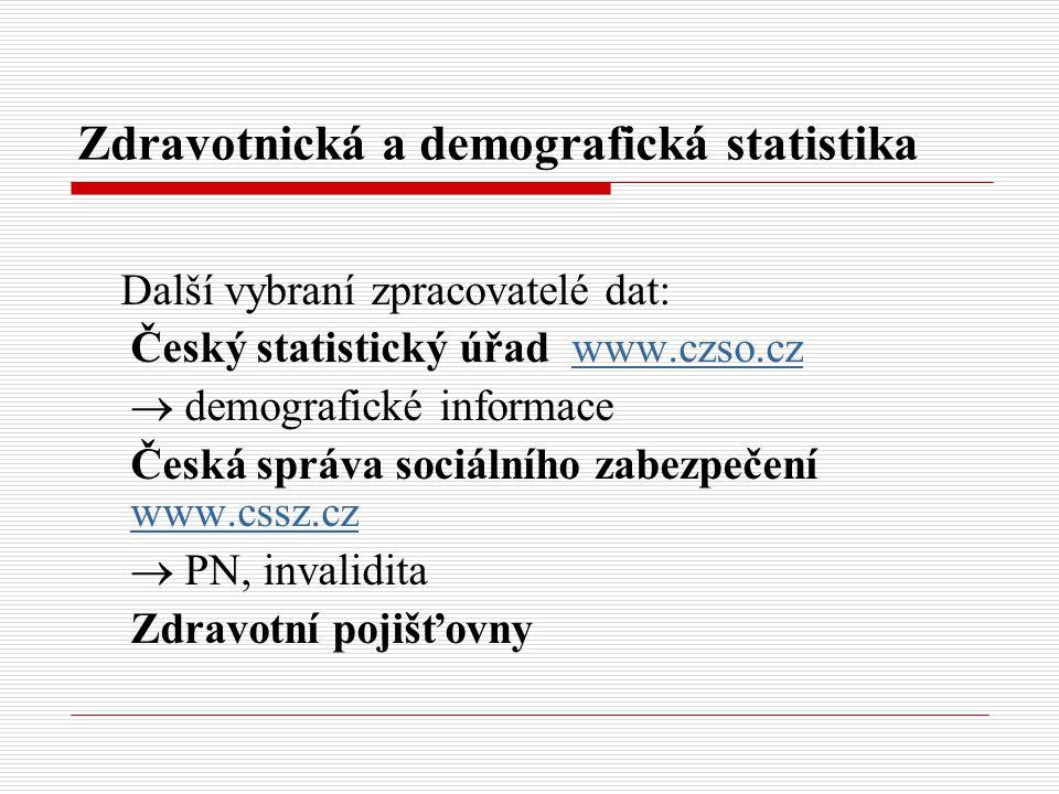 Zdravotnická a demografická statistika