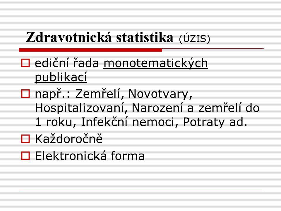 Zdravotnická statistika (ÚZIS)