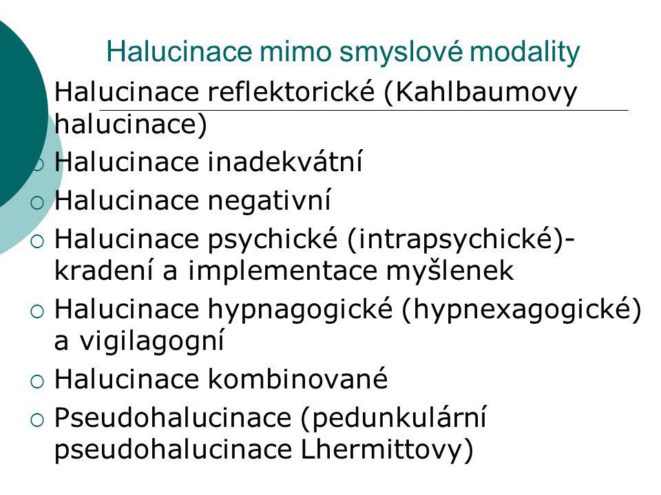 Halucinace mimo smyslové modality