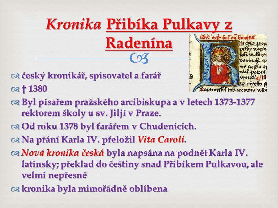 Kronika Přibíka Pulkavy z Radenína