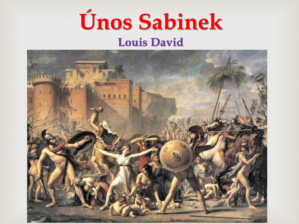Únos Sabinek Louis David