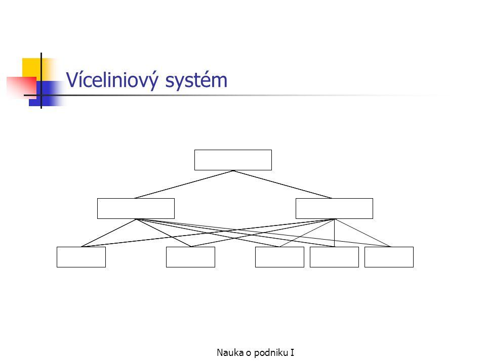 Víceliniový systém Nauka o podniku I