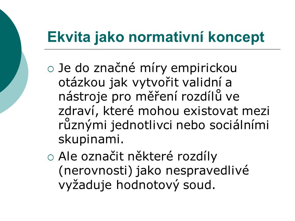Ekvita jako normativní koncept