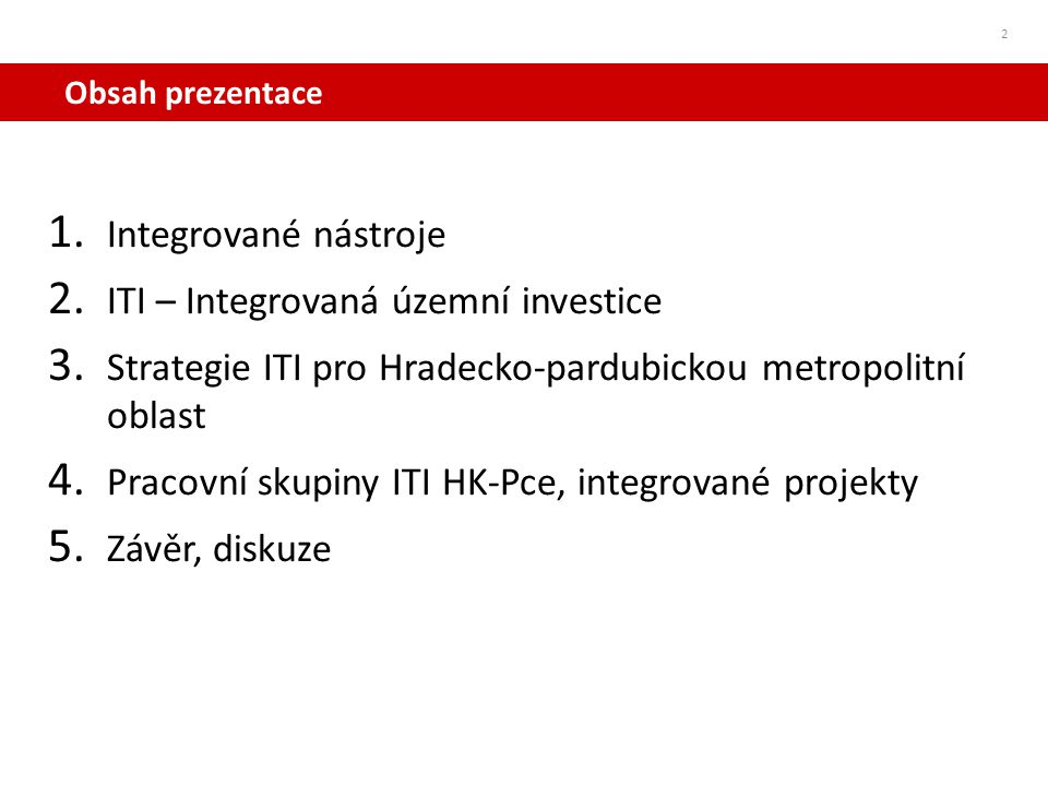 ITI – Integrovaná územní investice