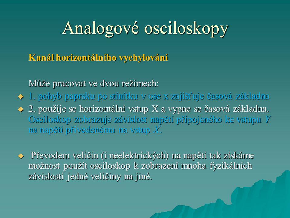 Analogové osciloskopy