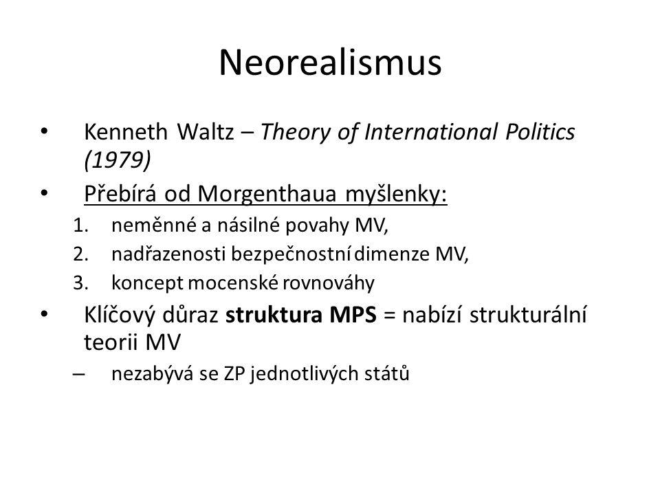 Neorealismus Kenneth Waltz – Theory of International Politics (1979)