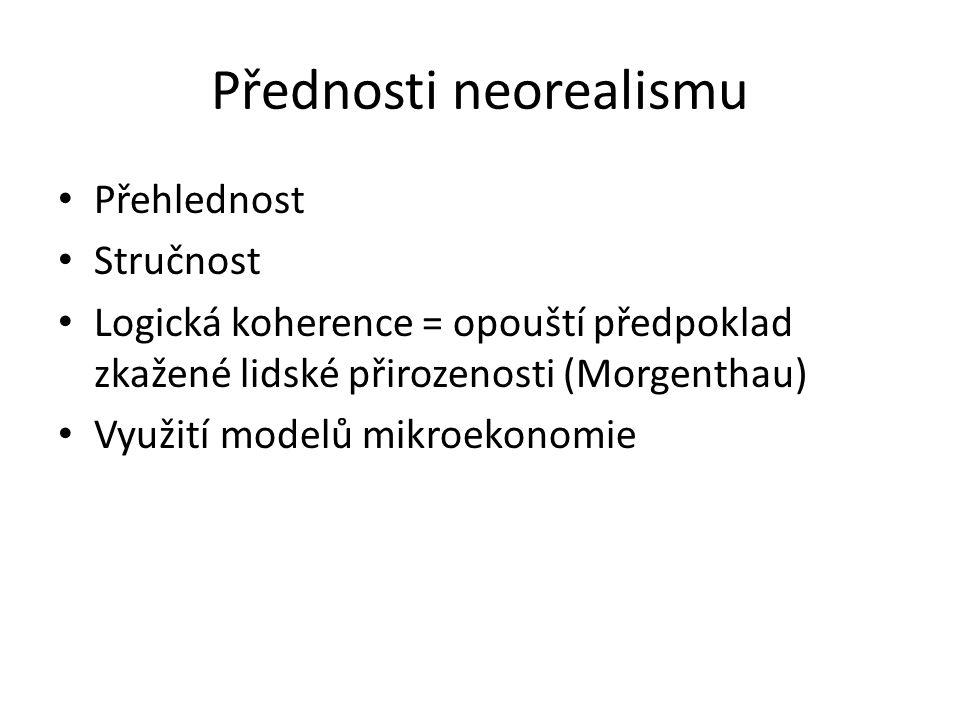 Přednosti neorealismu