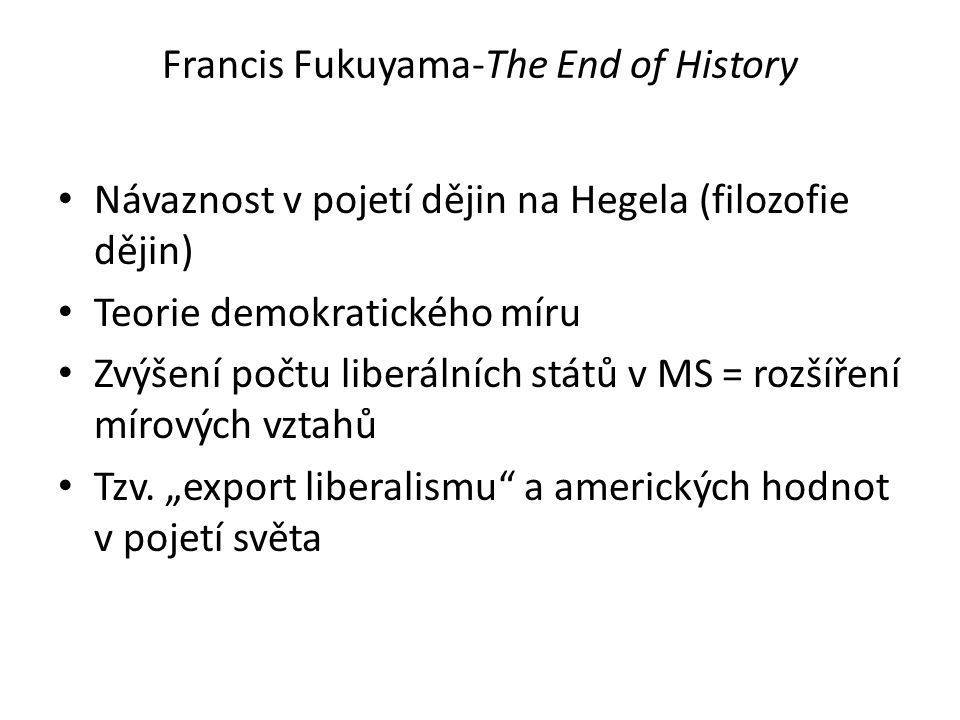 Francis Fukuyama-The End of History